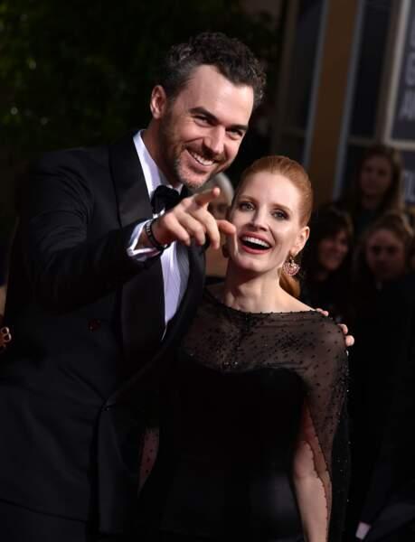 """Regarde chérie, on nous observe !"" dixit Gian Luca Passi de Preposulo, mari de Madame Jessica Chastain"