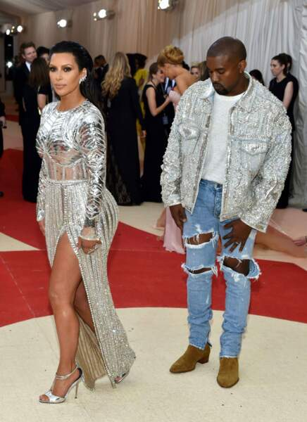 Kim Kardashian et Kanye West assortis.