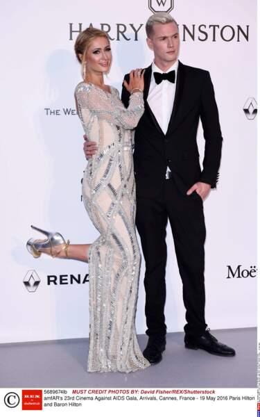 Paris Hilton, la reine de la planète people, avec son frère Barron
