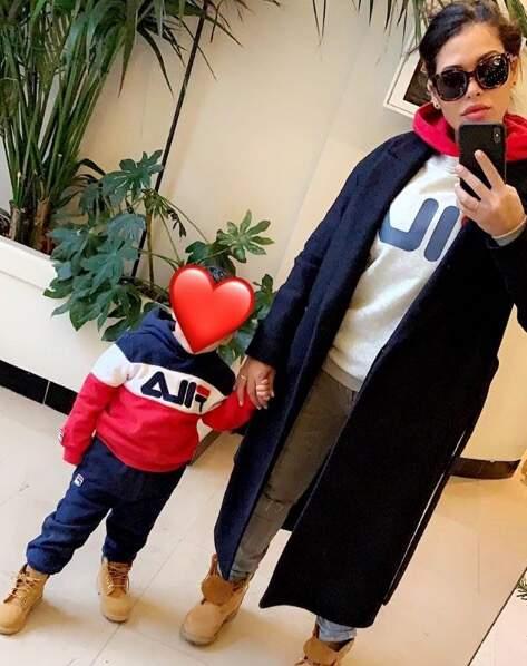 Ayem Nour prend toujours soin de masquer le visage de son fils Ayvin