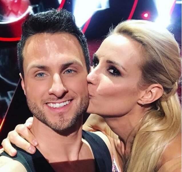 Elodie Gossuin et son partenaire Christian Millette lors de la saison 8 (2017)