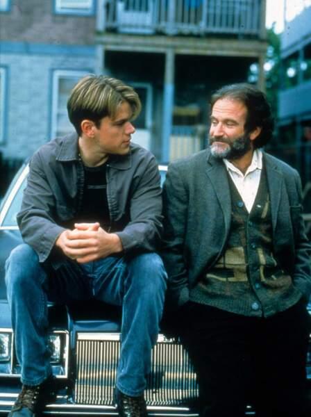 Robin Williams (avec Matt Damon) dans Will Hunting en 1998