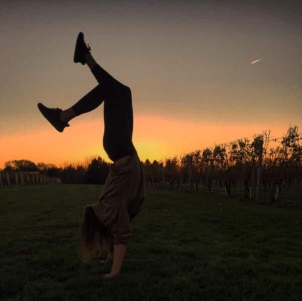 """Et de gymnastique, comme sa maman. Elle s'occupe aussi du festival du Cirque """"New Generation"""" avec elle"""