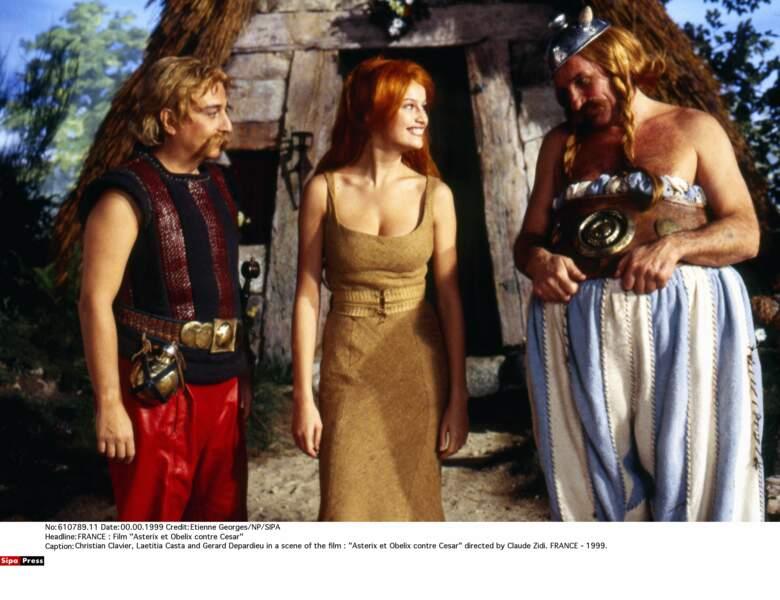 En 1999 on la retrouve au cinéma dans Astérix et Obélix contre César