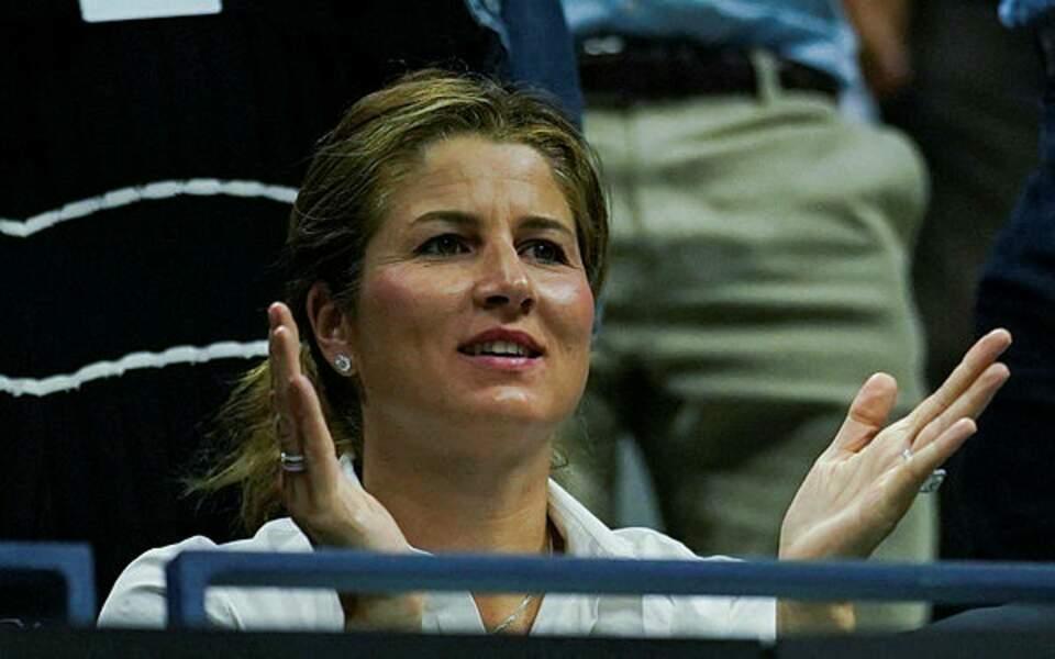 Fidèle des tribunes du monde entier : Mirka Federer !