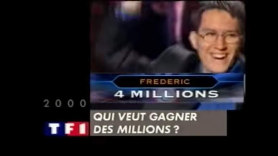 6. Frédéric, 609 796 €, Qui veut gagner des millions ?, TF1 (2000)