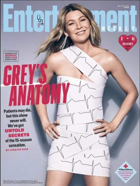 Ellen Pompeo rayonnante en couverture du magazine Entertainment Weekly