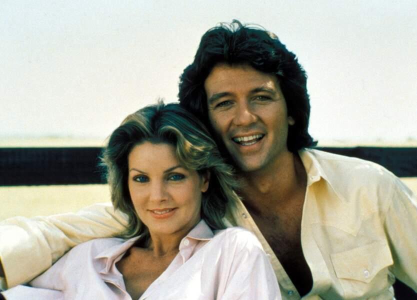 Bobby Ewing et son ex-petite amie Jenna, ici incarnée par Priscilla Presley