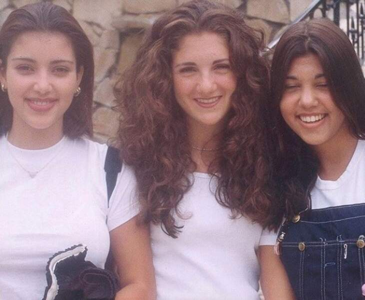 Kim et Kourtney Kardashian et leur amie du lycée