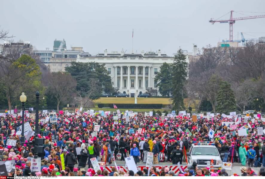 Une foule impressionnante a manifesté devant la Maison Blanche. Parmi elles, de nombreuses stars