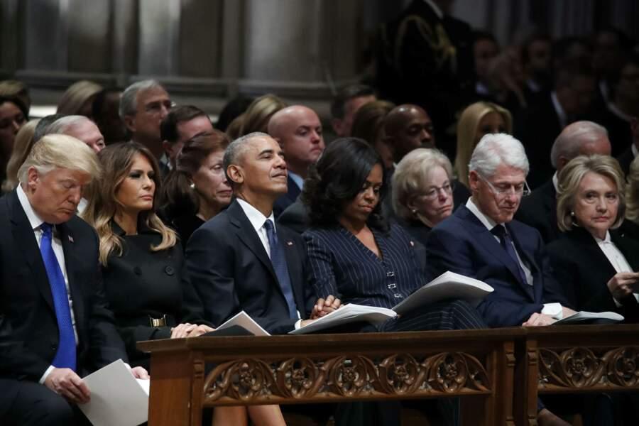 Les anciens présidents américains étaient présents pour rendre hommage à George H. W. Bush