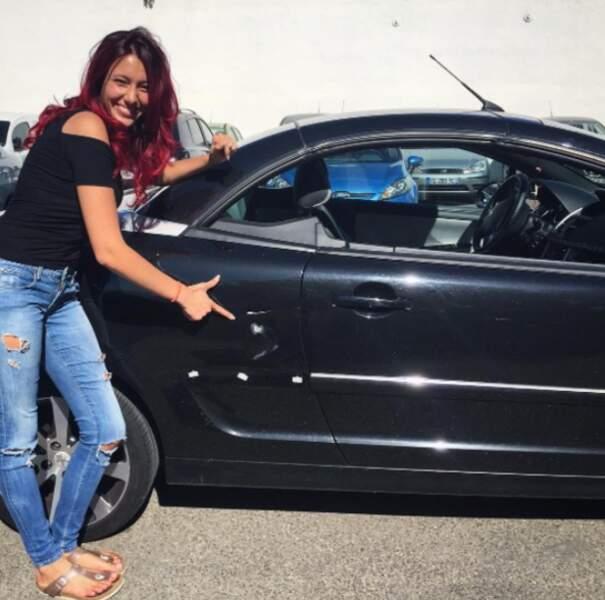 Delphine Wespiser est sans aucun doute la seule personne sur Terre heureuse d'avoir un accroc sur sa voiture.