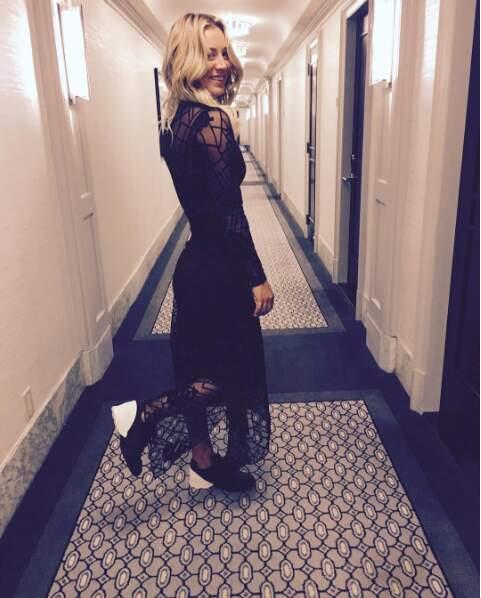 Quand elle mange pas de pizzas, elle se balade dans les couloirs des hôtels
