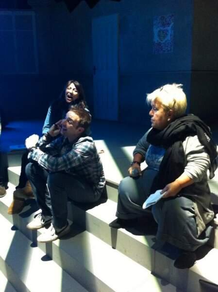 Mimie Mathy et les producteurs de l'émission
