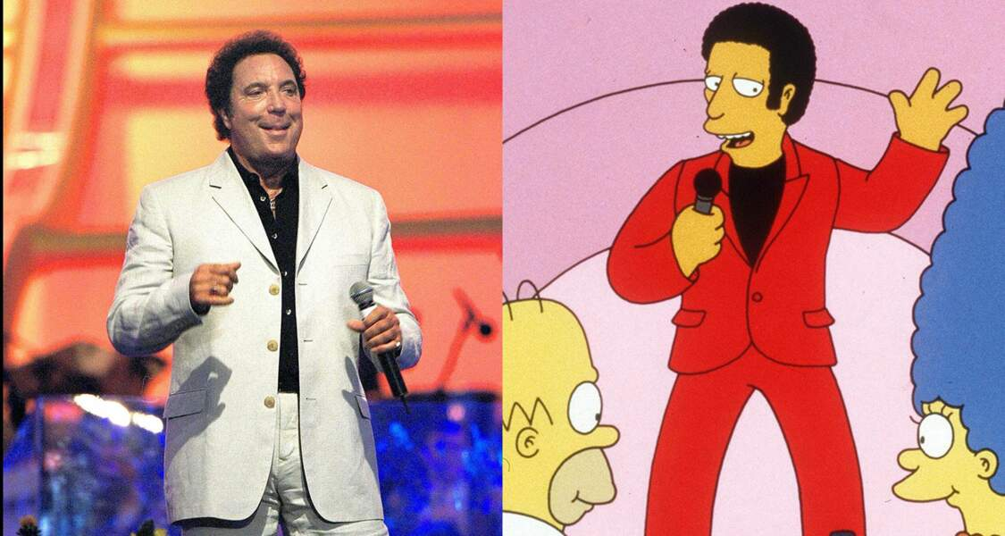 Tom Jones vient chanter pour Marge Simpson