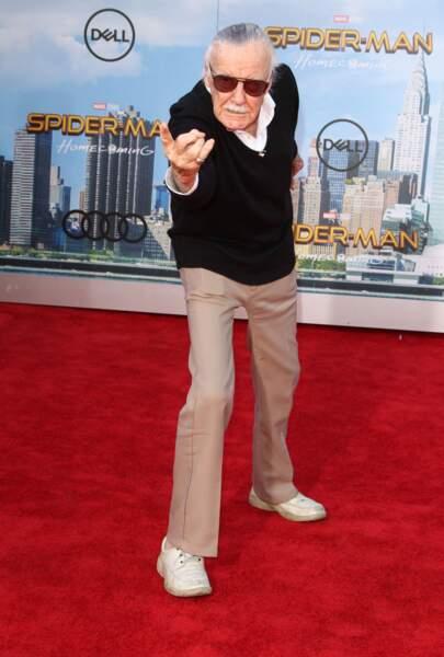 Le grand Stan Lee (créateur de nombreux super-héros Marvel) a imité l'homme araignée