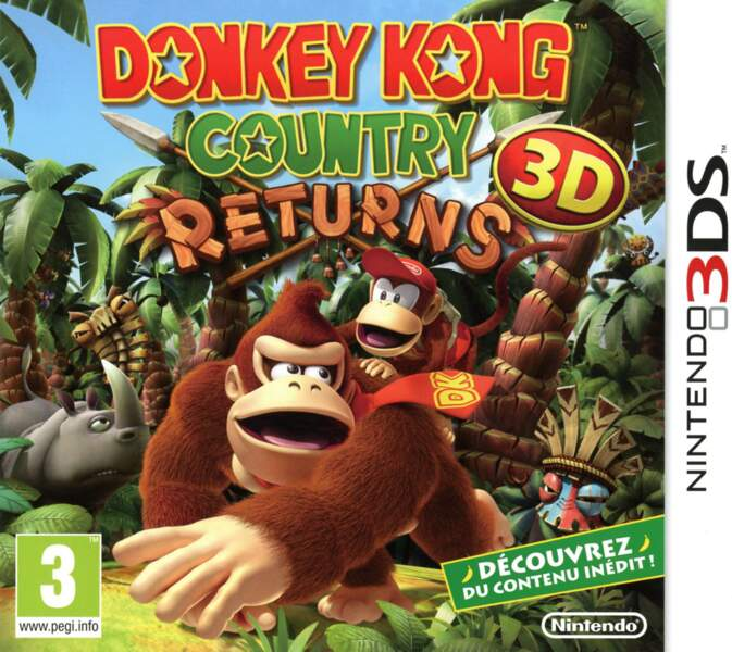 Donkey Kong Country Returns 3D - Nintendo 3DS (2013)