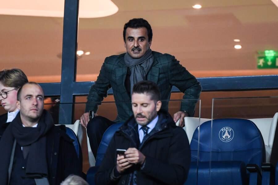 L'Emir du Qatar ne pouvait pas non plus manque ce PSG/Liverpool
