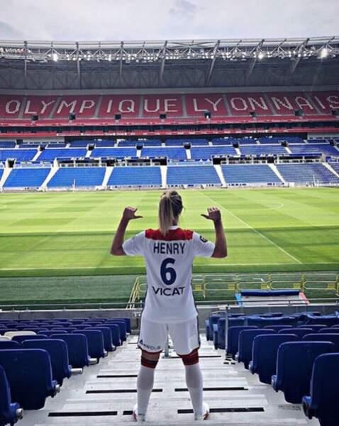 La star de l'équipe de France joue à l'OL