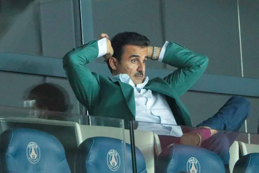 L'émir Tamil ben Hamad Al Thani peut respirer, c'est un beau soir pour son équipe !