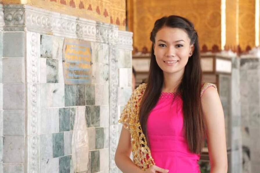 Khin Yadanar Thein Muint porte les couleurs de la Birmanie