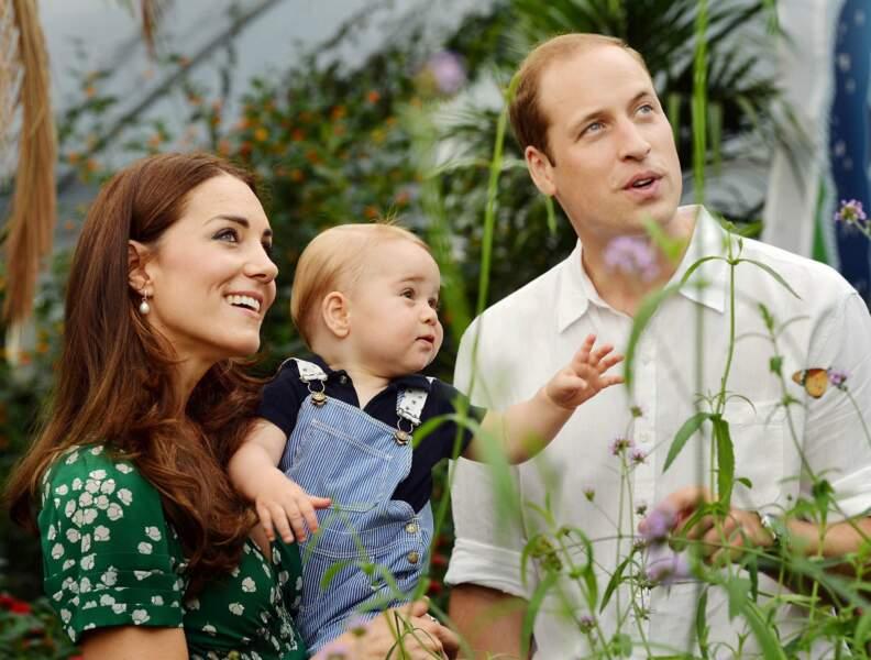 Le 22 juillet 2014, William et Kate célèbrent les 1 an de George