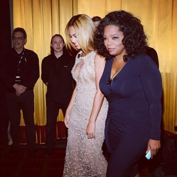 Photo classe avec Oprah Winfrey