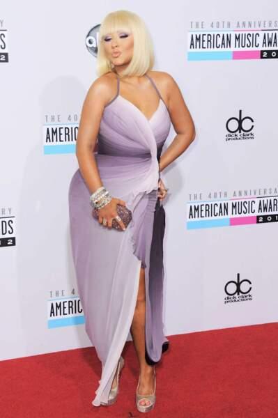 La chanteuse américaine Christina Aguilera en 2012