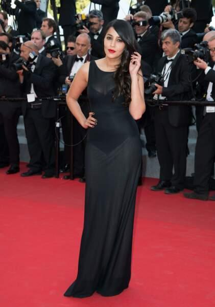 Leila a osé la touche sexy et glamour avec une robe quelque peu transparente (2014)