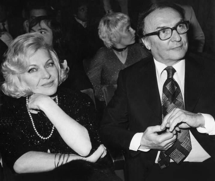 Line Renaud et Loulou Gasté, décédé le 8 janvier 1995.