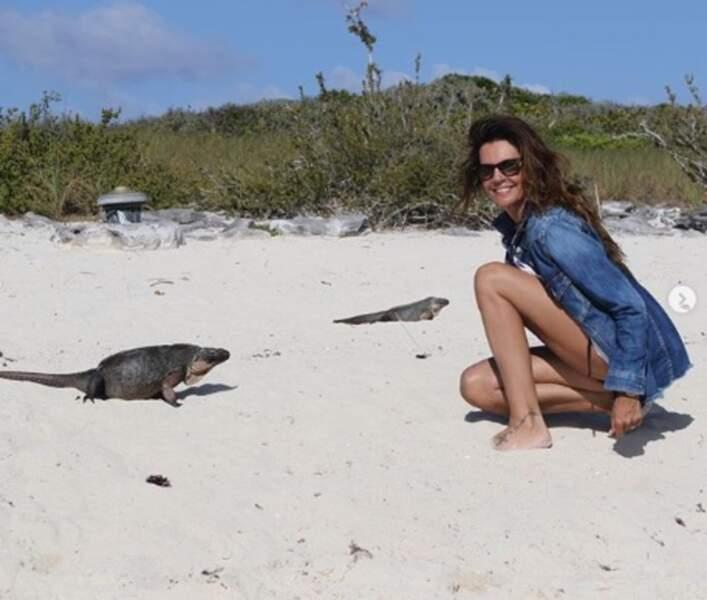 Jolie rencontre pour Véronika Loubry aux Bahamas.