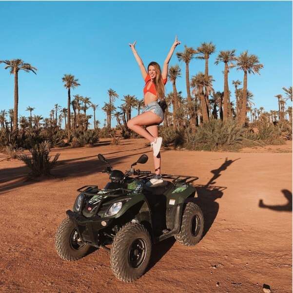 Du sable aussi mais celui du désert pour Emma Cakecup.