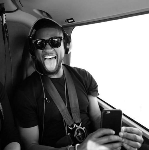 Le chanteur Usher s'est offert une petite virée dans les airs
