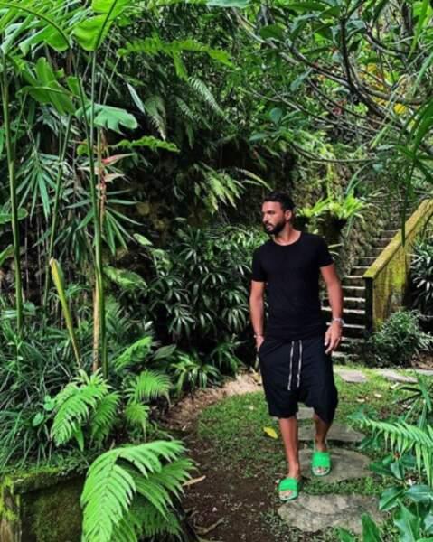 Et Thomas Vergara était ton sur ton (des pieds) avec la végétation balinaise.