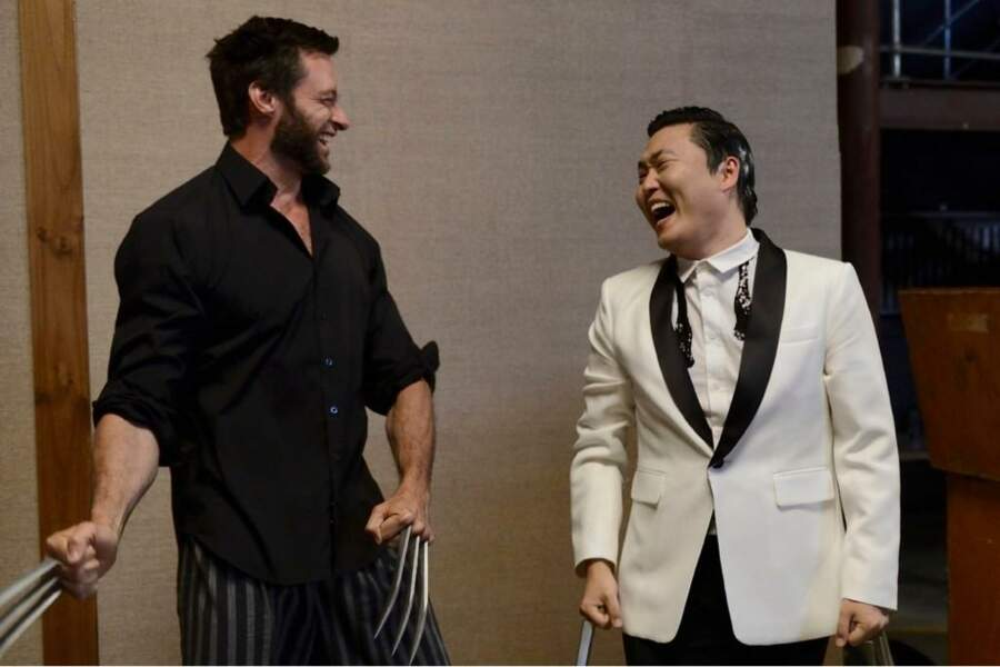Hugh Jackman a lui aussi succombé au Gangnam Style