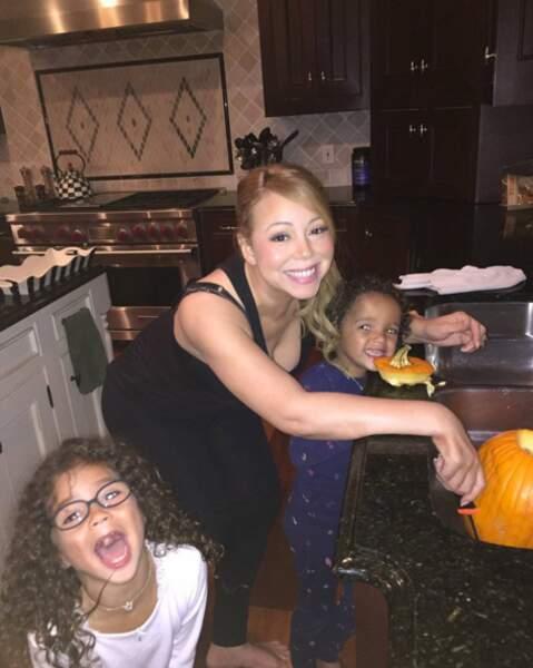 Quelques semaines avant le 31 octobre, Mariah Carey et ses jumeaux commençaient déjà les préparatifs.