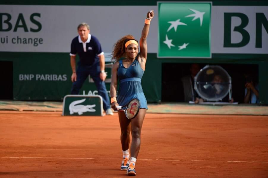 A largement dominé son adversaire 6-0, 6-1 pour se qualifier pour la finale de Roland-Garros...