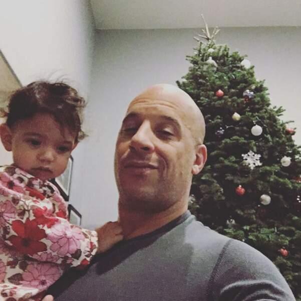 Et petit selfie de papa gâteau pour Vin Diesel et sa fille Pauline !