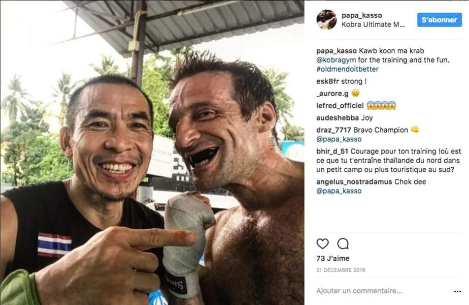 Entrainement en Thaïlande avec un maître