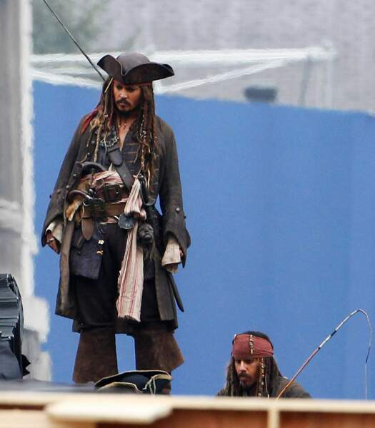 Coucou Johnny Depp et sa doublure Jack Sparrow ! On valide !