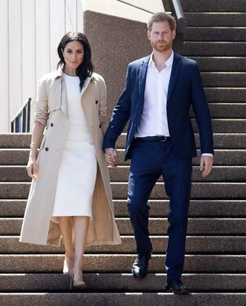 5 mois après leur mariage, ils entament un voyage officiel de 16 jours en Australie et dans le pacifique sud