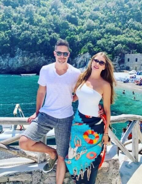 Sofia Vergara et son mari Joe Manganiello à Amalfi.