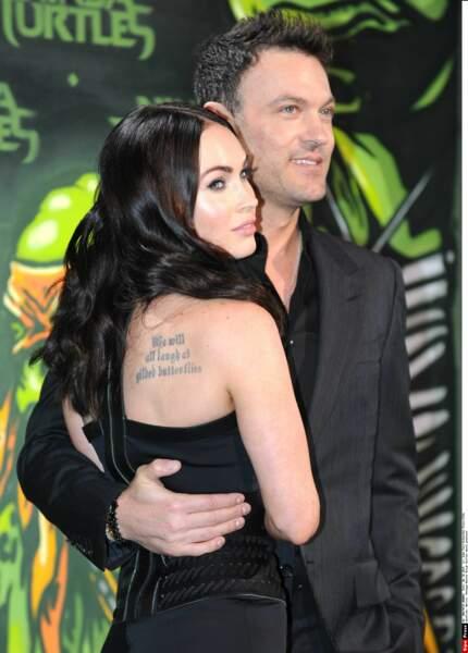 Megan Fox a pour habitude de parer son corps de citations