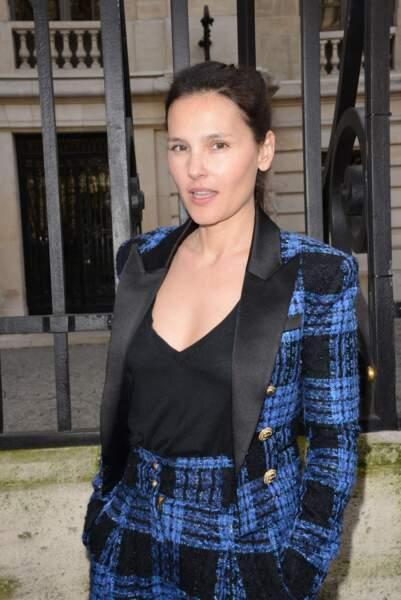 Chez Balmain, Virginie Ledoyen a prouvé qu'elle aimait le tweed.