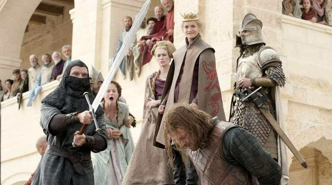 Game of Thrones : Ned Stark meurt lors de la première saison