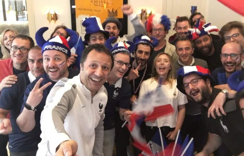 Selfie géant de supporters avec Arthur