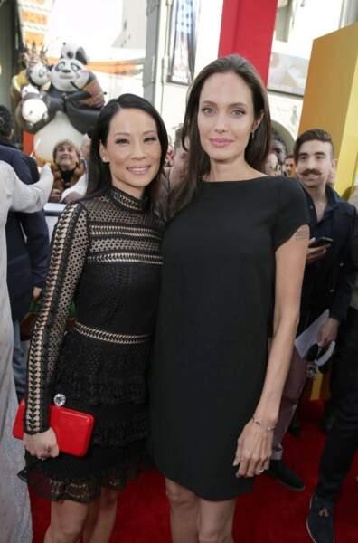 Puis Angie a retrouvé Lucy Liu, qui est aussi au casting du film