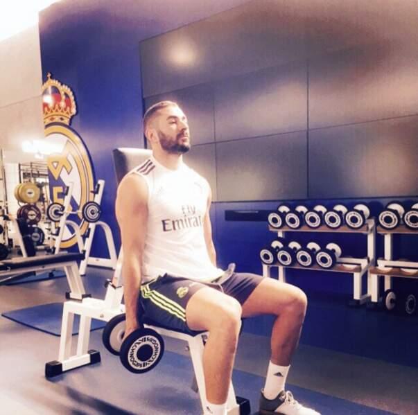 Les sportifs aussi ne lésinent pas sur la muscu : Karim Benzema...