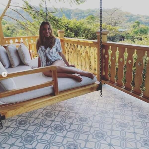Cathy Guetta était installée de manière totalement naturelle au Costa Rica.