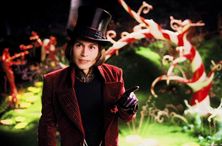 2005. Dans Charlie et la chocolaterie de Tim Burton